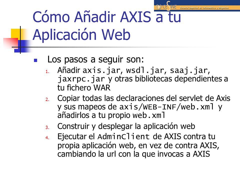 Cómo Añadir AXIS a tu Aplicación Web