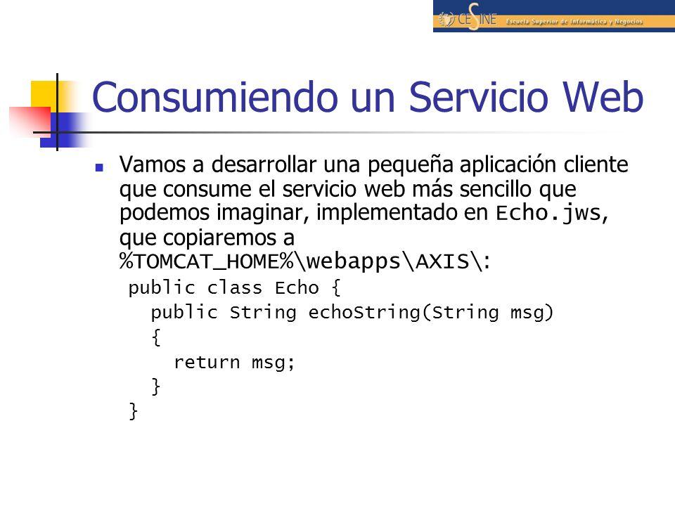 Consumiendo un Servicio Web