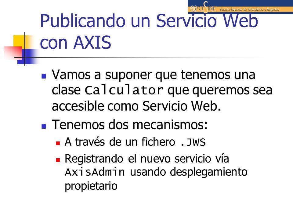 Publicando un Servicio Web con AXIS