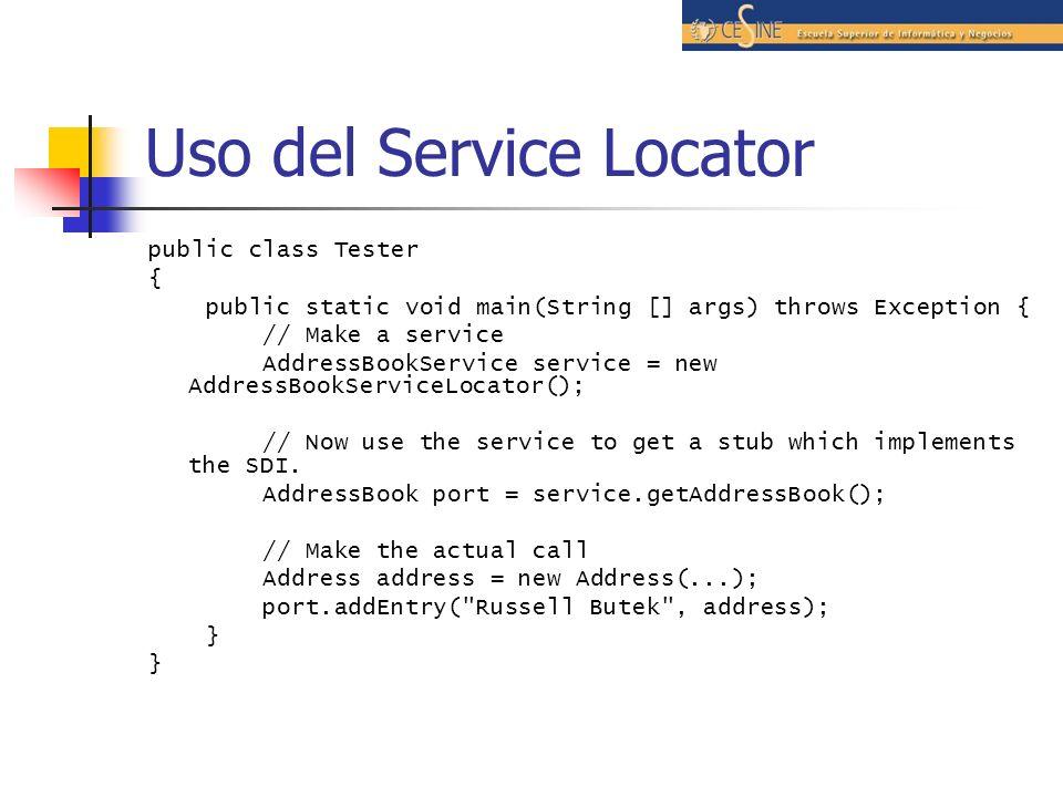 Uso del Service Locator