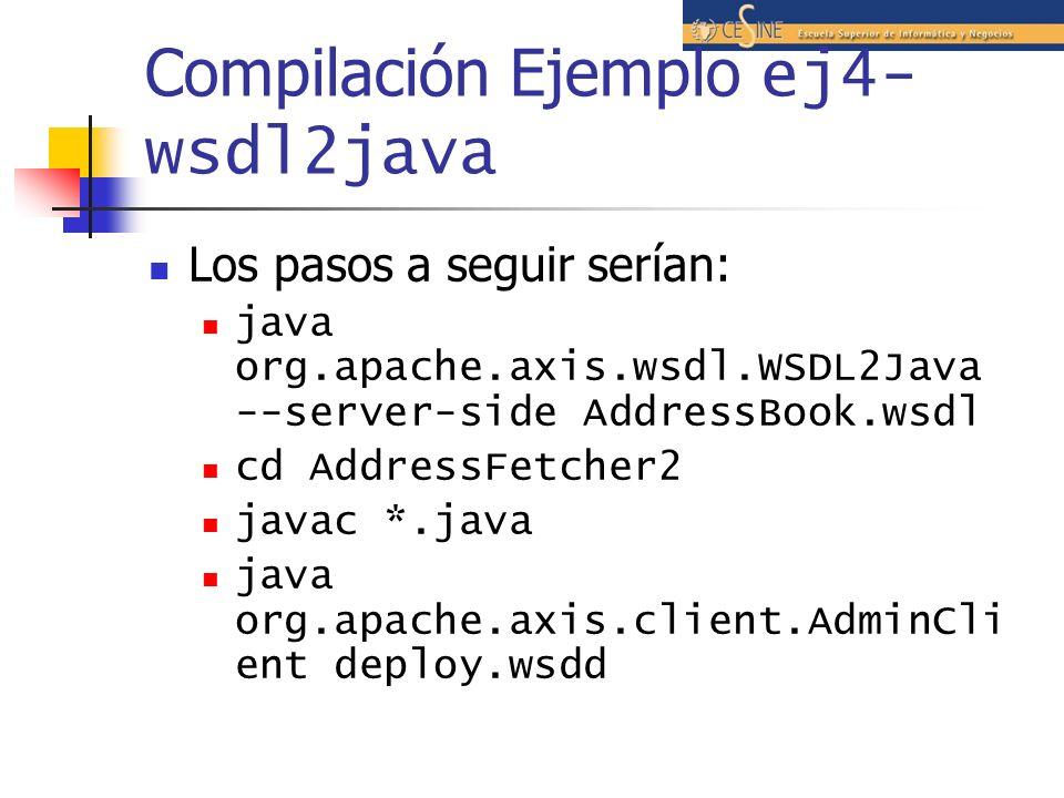 Compilación Ejemplo ej4-wsdl2java
