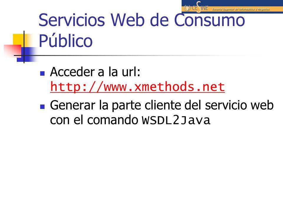 Servicios Web de Consumo Público