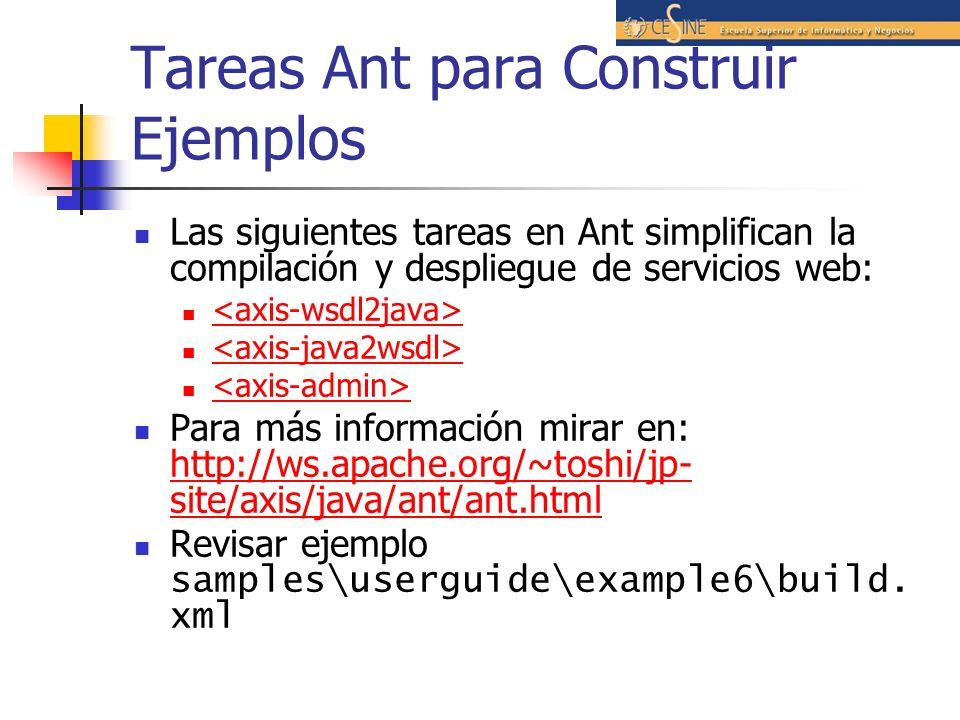 Tareas Ant para Construir Ejemplos