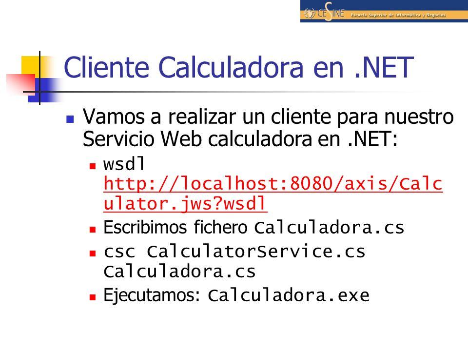 Cliente Calculadora en .NET