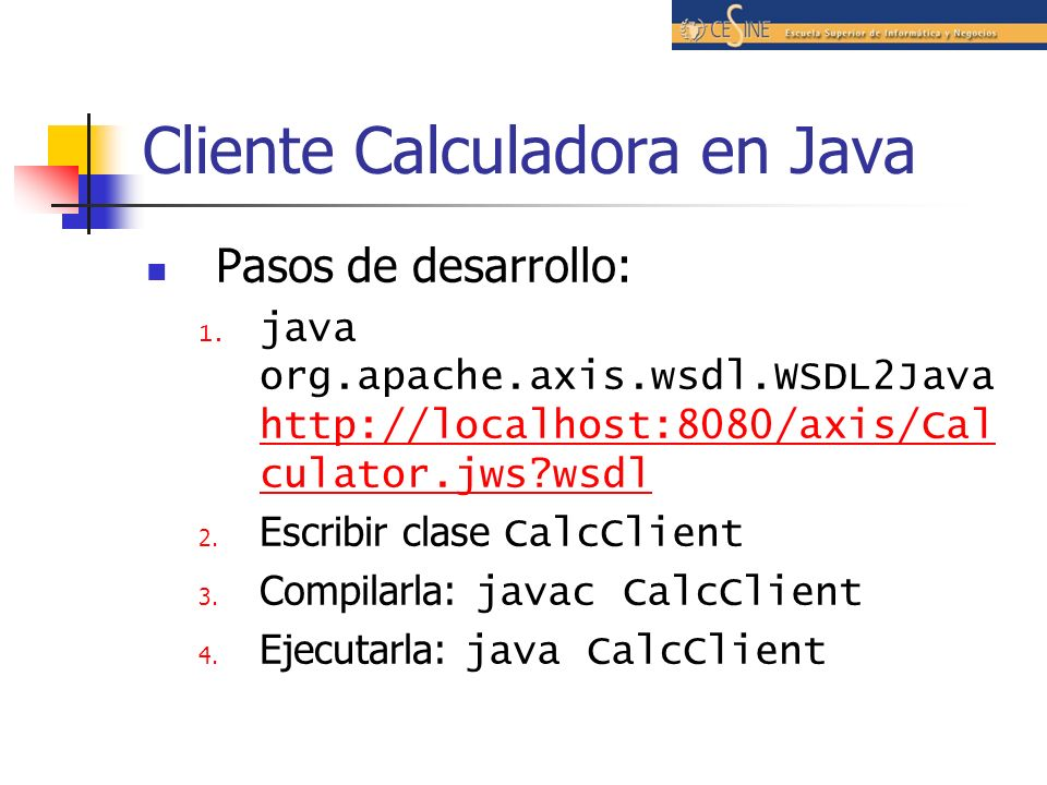 Cliente Calculadora en Java