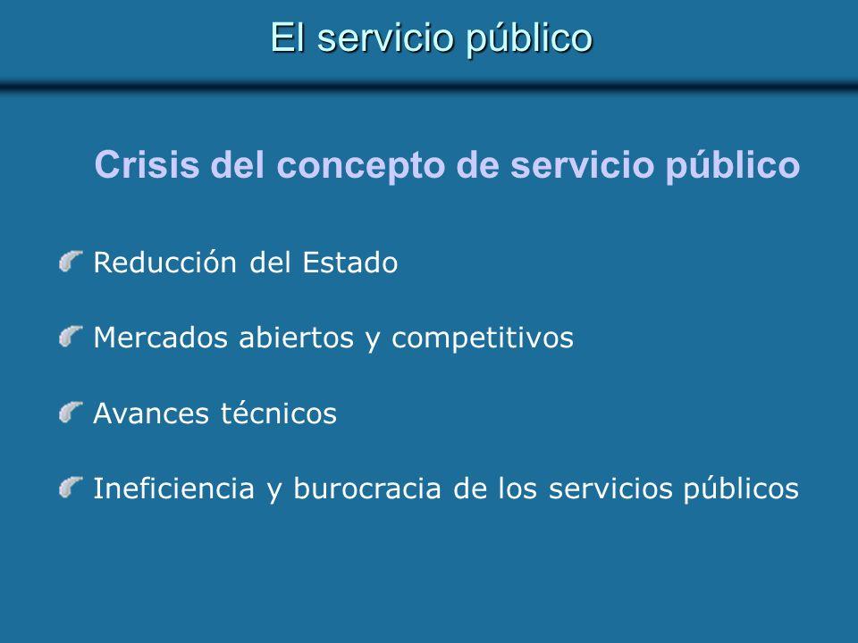 Crisis del concepto de servicio público