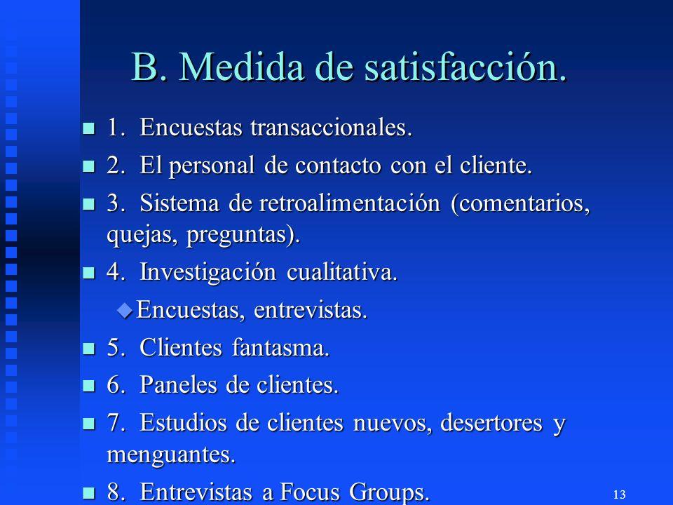 B. Medida de satisfacción.