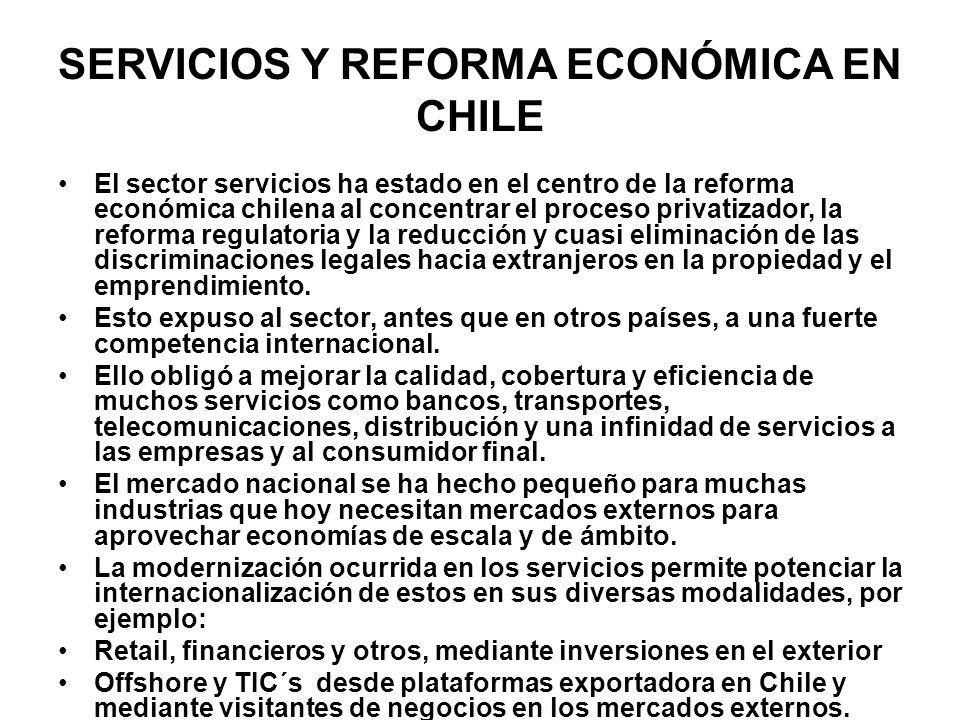 SERVICIOS Y REFORMA ECONÓMICA EN CHILE
