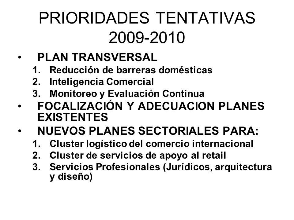 PRIORIDADES TENTATIVAS 2009-2010