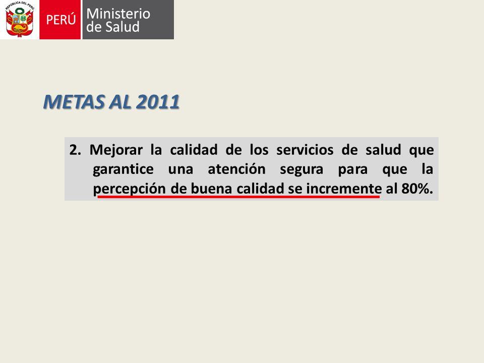 METAS AL 2011