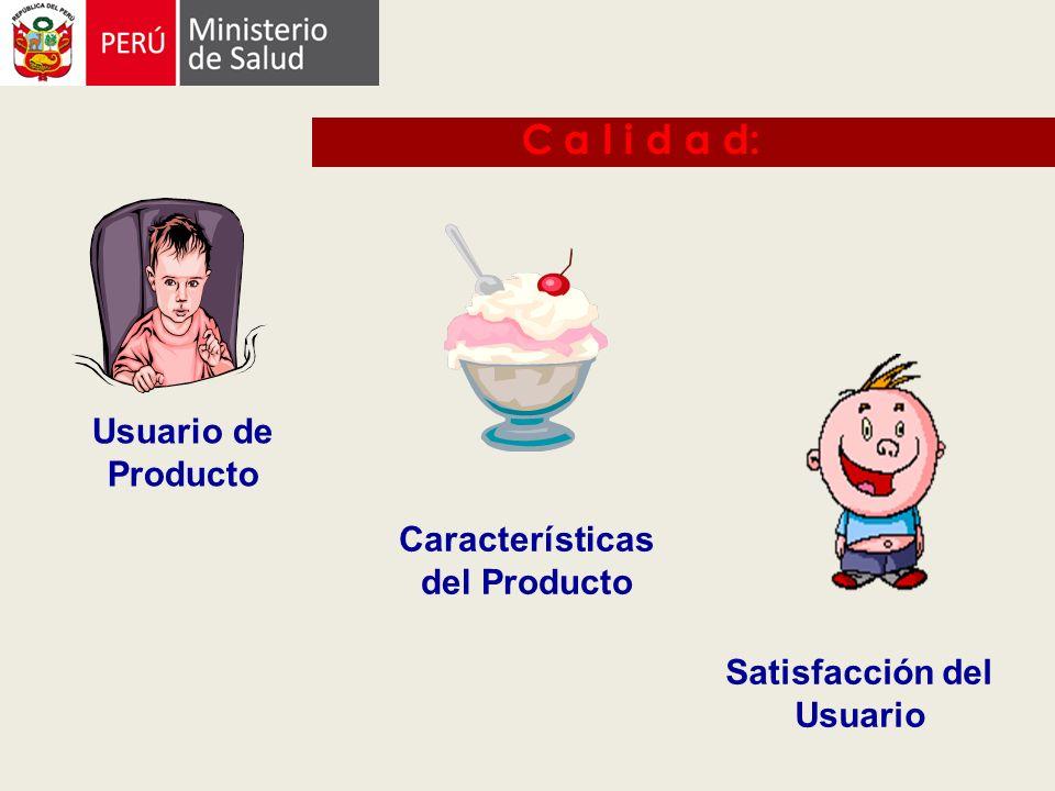 Características del Producto Satisfacción del Usuario