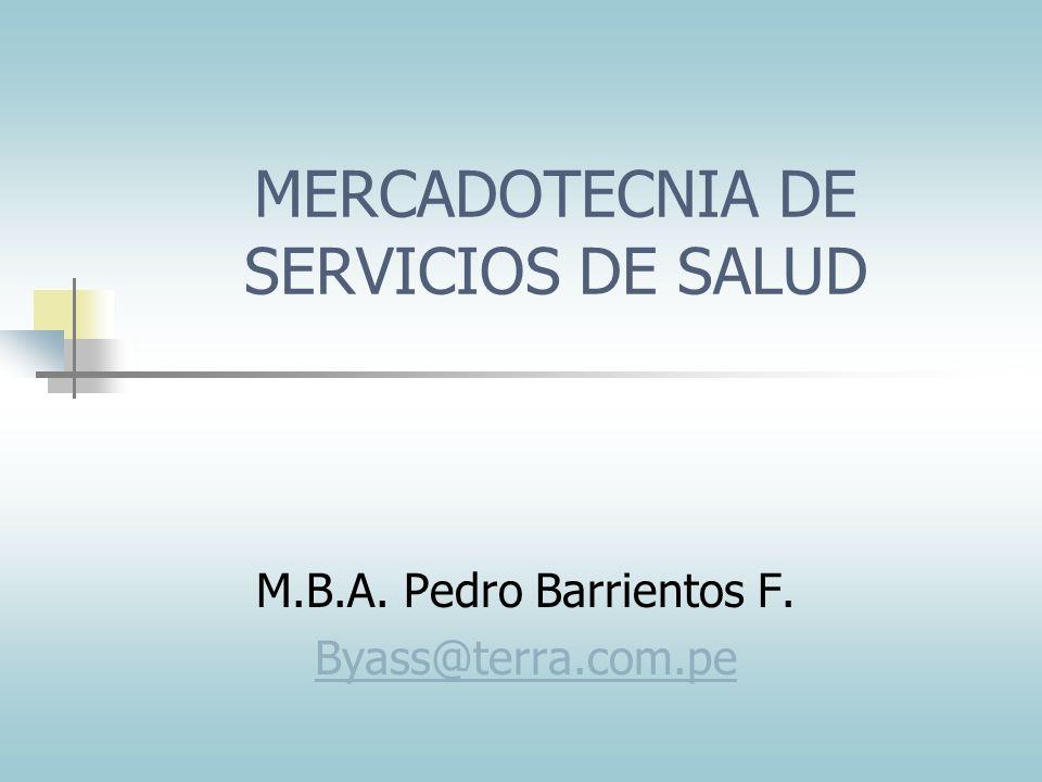 MERCADOTECNIA DE SERVICIOS DE SALUD