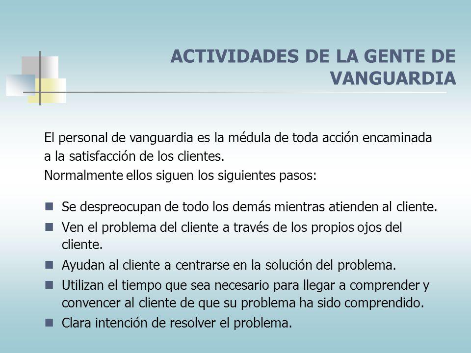 ACTIVIDADES DE LA GENTE DE VANGUARDIA