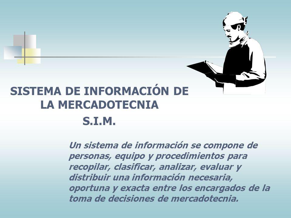 SISTEMA DE INFORMACIÓN DE LA MERCADOTECNIA