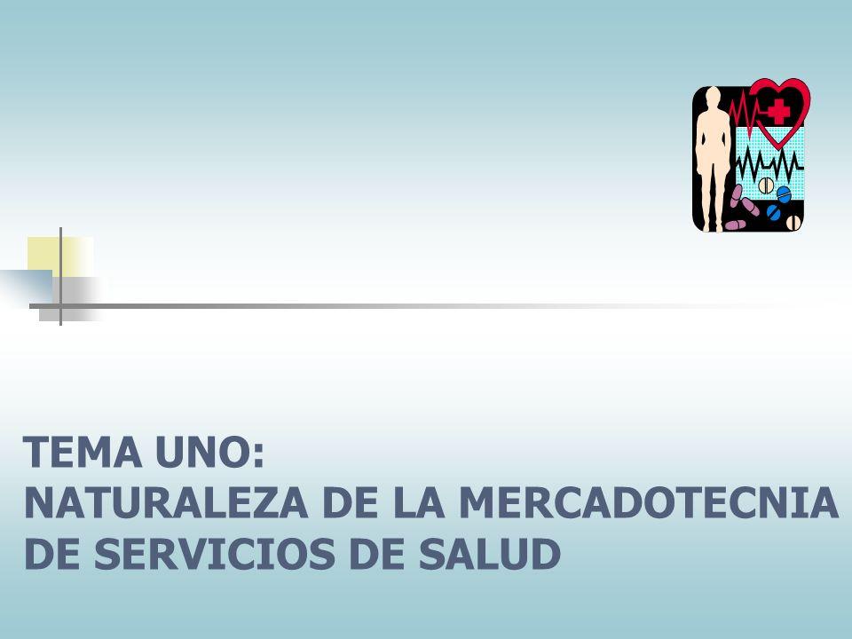 TEMA UNO: NATURALEZA DE LA MERCADOTECNIA DE SERVICIOS DE SALUD