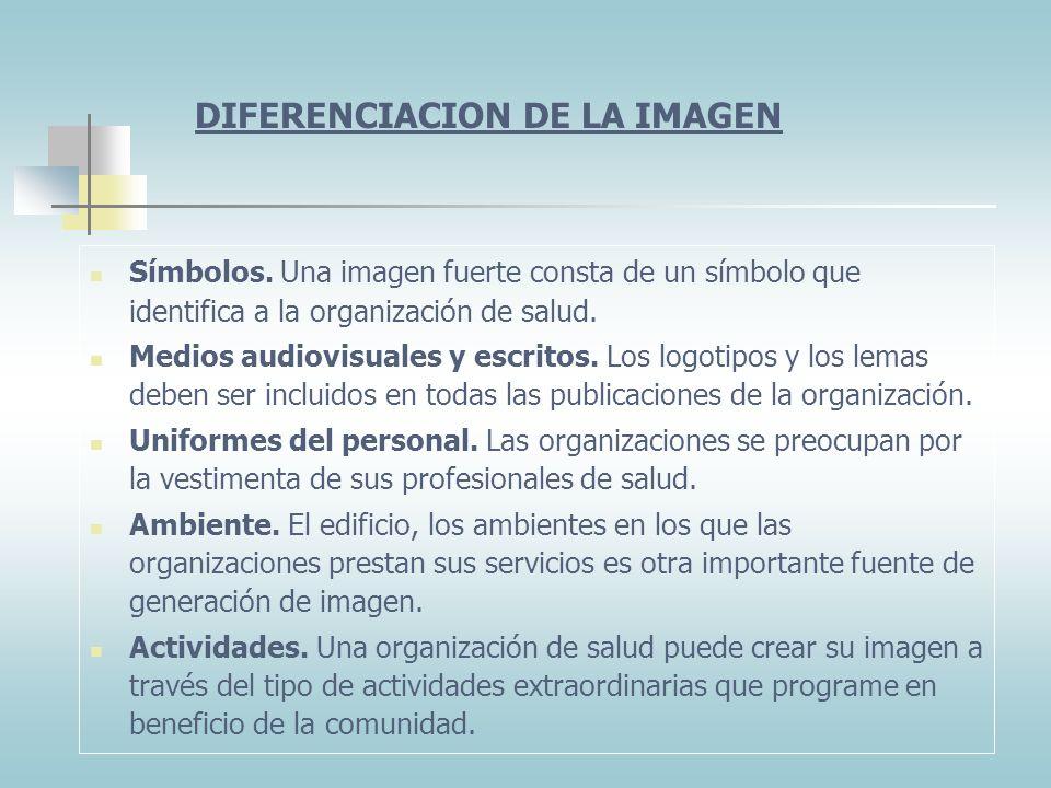 DIFERENCIACION DE LA IMAGEN