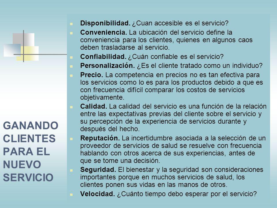 GANANDO CLIENTES PARA EL NUEVO SERVICIO
