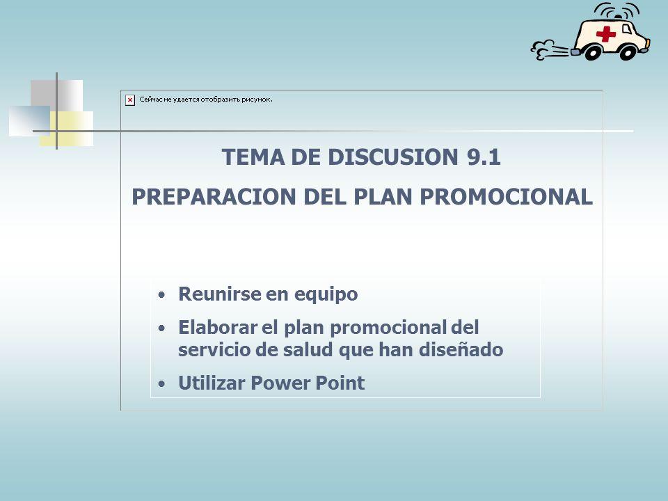 PREPARACION DEL PLAN PROMOCIONAL