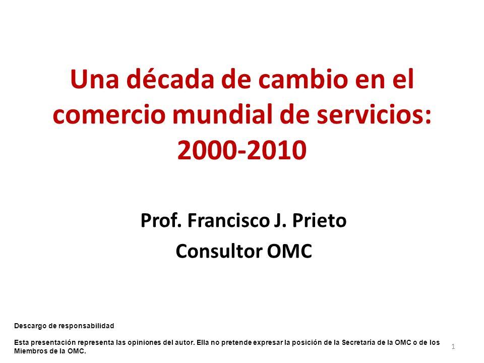Una década de cambio en el comercio mundial de servicios: 2000-2010