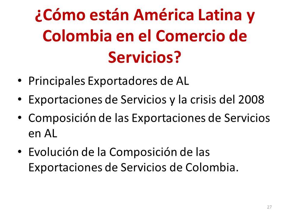 ¿Cómo están América Latina y Colombia en el Comercio de Servicios