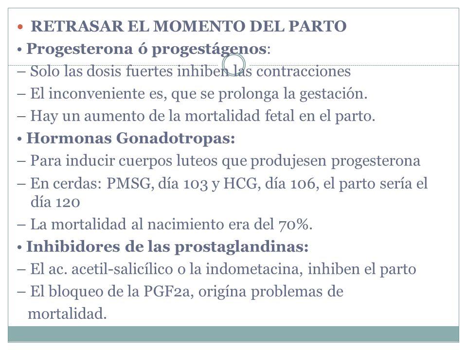 RETRASAR EL MOMENTO DEL PARTO