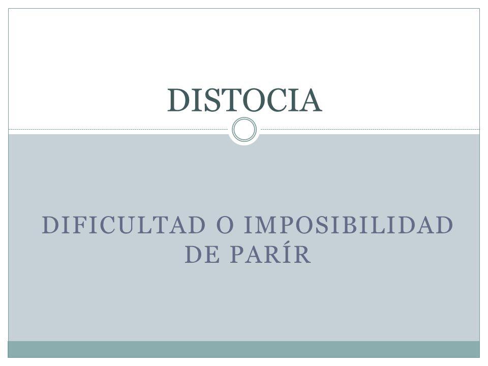 Dificultad o imposibilidad de parír