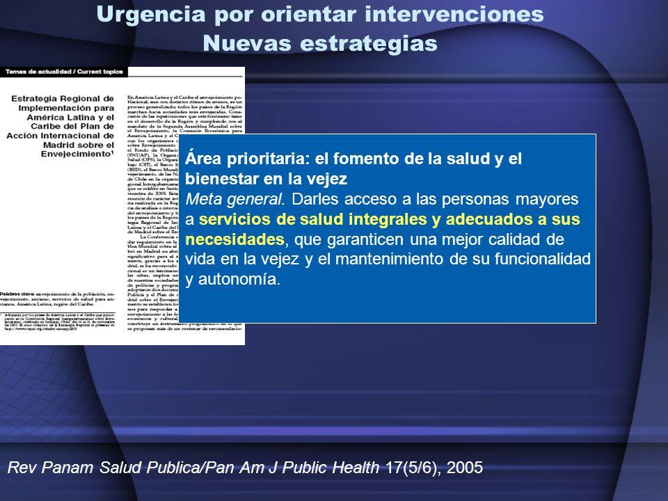 Urgencia por orientar intervenciones