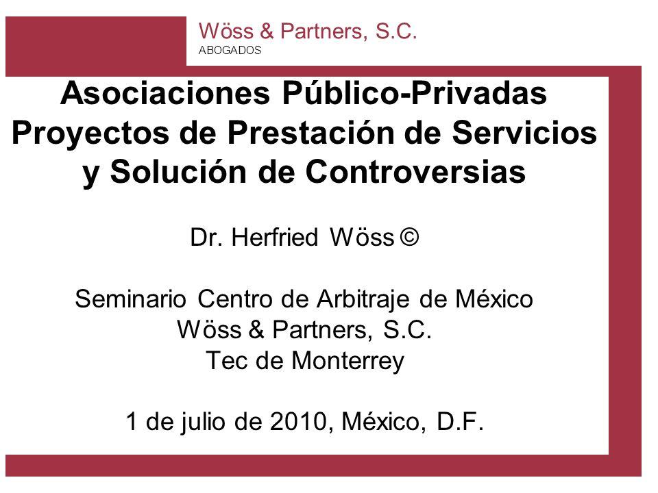 Asociaciones Público-Privadas Proyectos de Prestación de Servicios