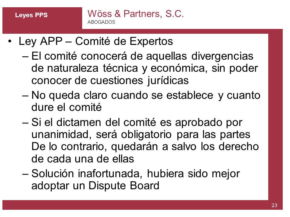 Ley APP – Comité de Expertos