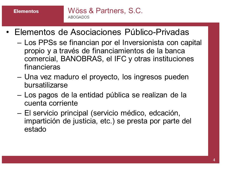 Elementos de Asociaciones Público-Privadas