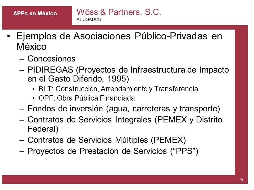 Ejemplos de Asociaciones Público-Privadas en México