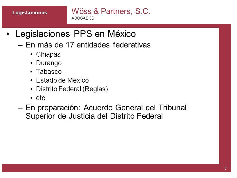 Legislaciones PPS en México