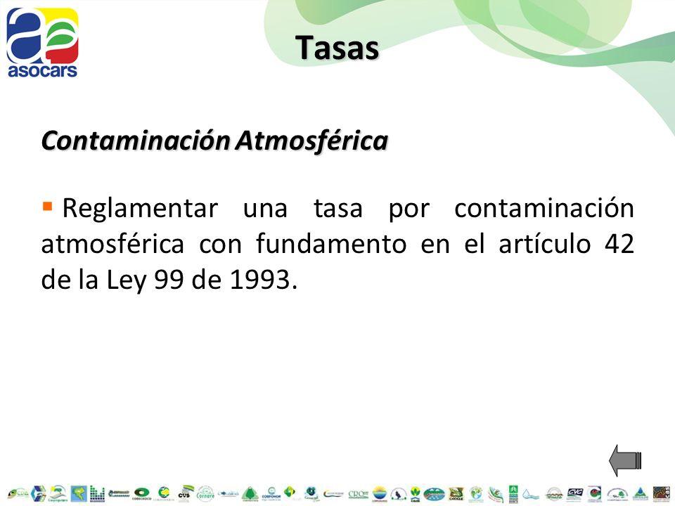 Tasas Contaminación Atmosférica