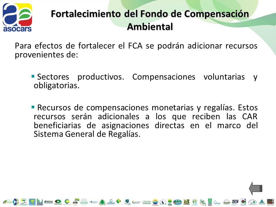 Fortalecimiento del Fondo de Compensación Ambiental