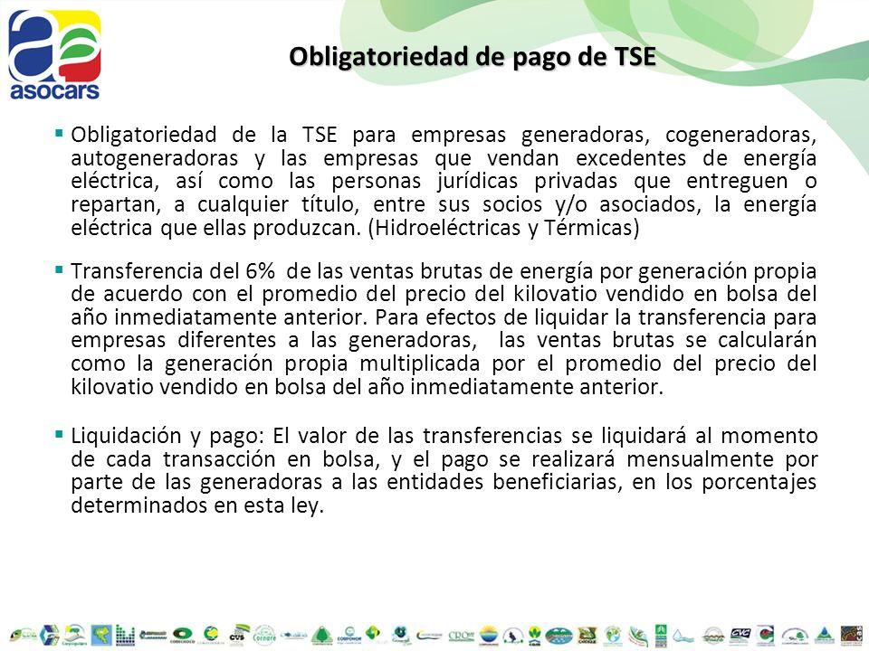 Obligatoriedad de pago de TSE