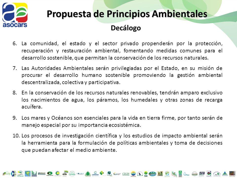 Propuesta de Principios Ambientales