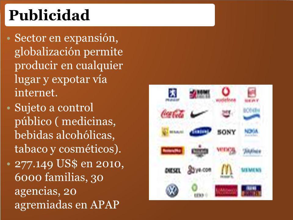 Publicidad Sector en expansión, globalización permite producir en cualquier lugar y expotar vía internet.