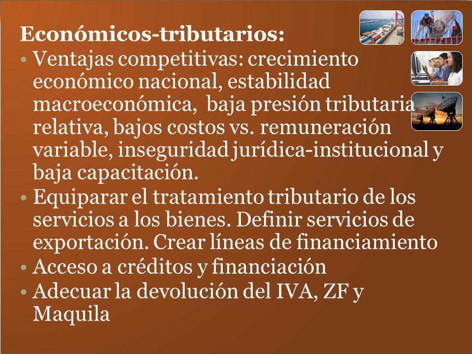 Económicos-tributarios: