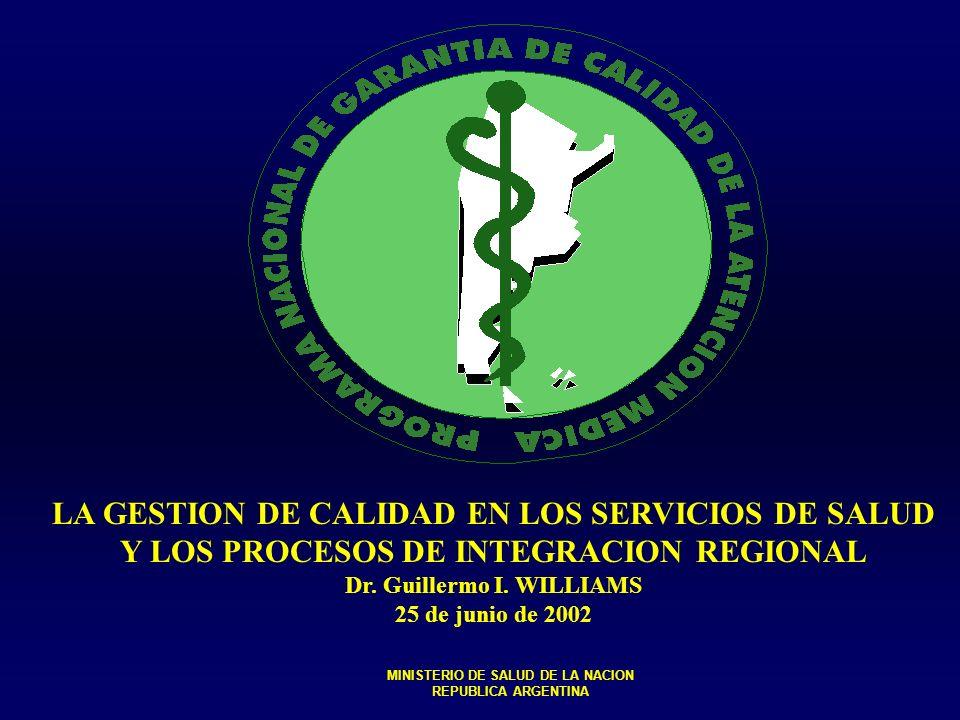 LA GESTION DE CALIDAD EN LOS SERVICIOS DE SALUD
