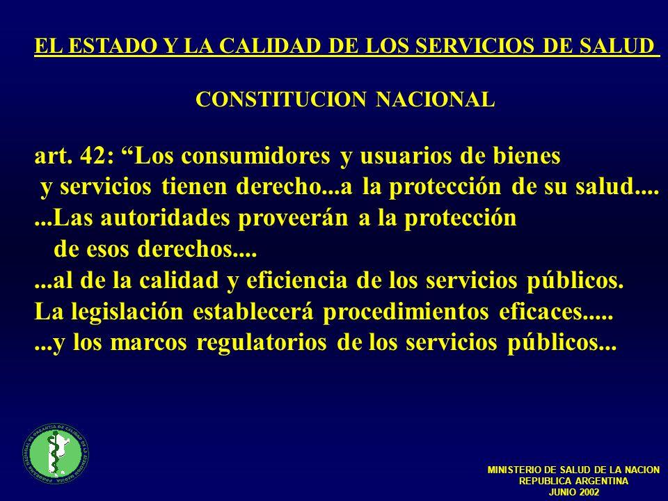 MINISTERIO DE SALUD DE LA NACION