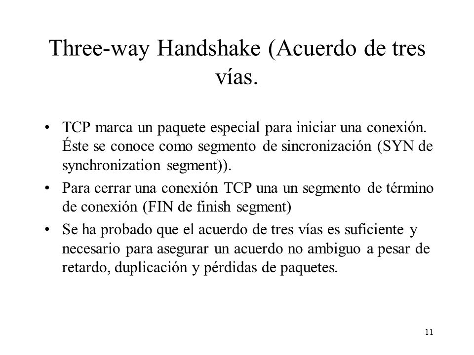 Three-way Handshake (Acuerdo de tres vías.