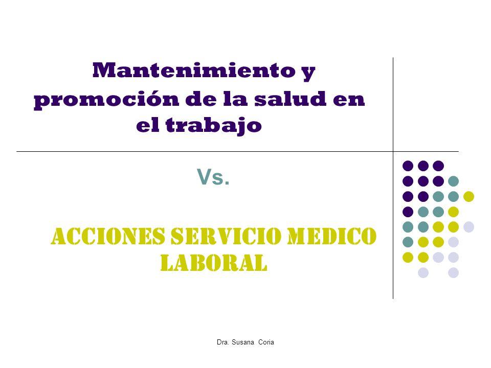 Mantenimiento y promoción de la salud en el trabajo