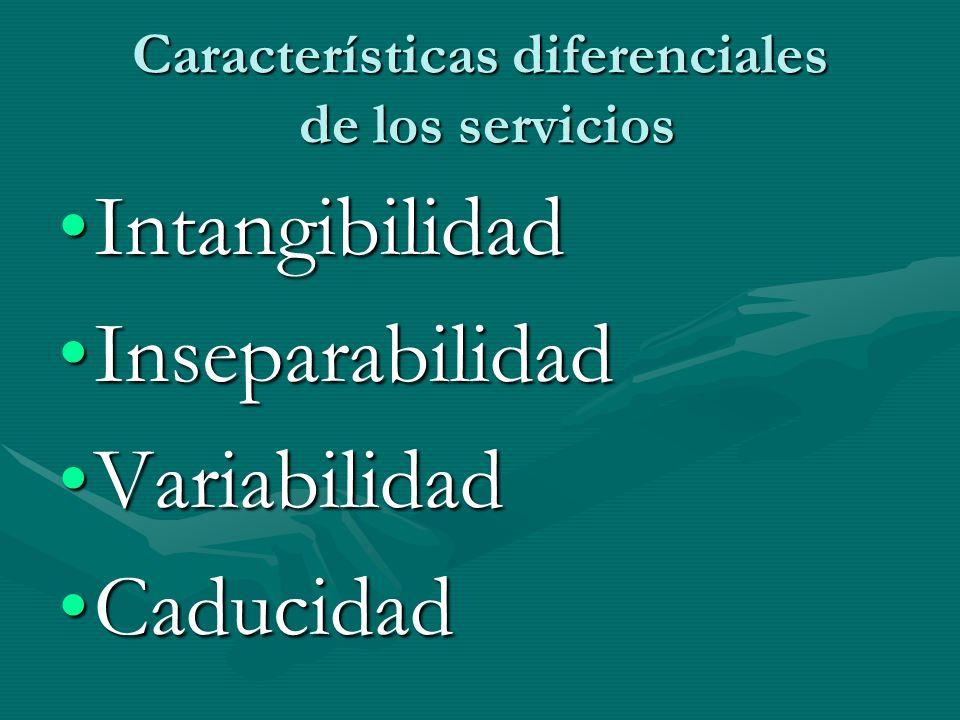 Características diferenciales de los servicios