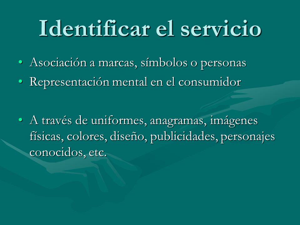 Identificar el servicio