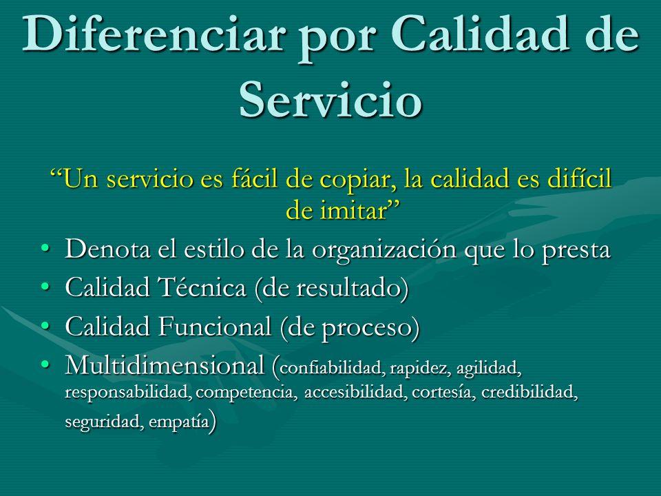 Diferenciar por Calidad de Servicio