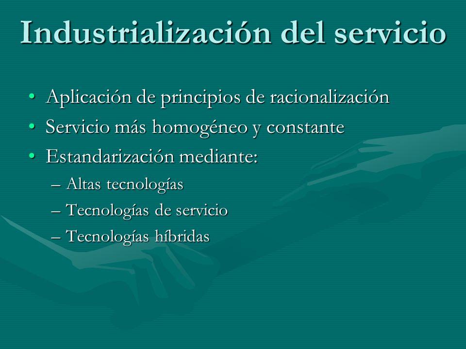 Industrialización del servicio