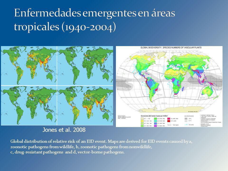 Enfermedades emergentes en áreas tropicales (1940-2004)
