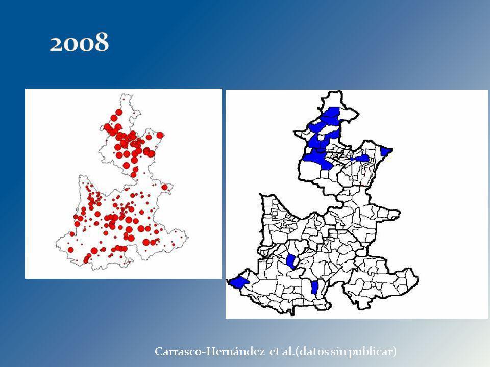 2008 Carrasco-Hernández et al.(datos sin publicar) 30