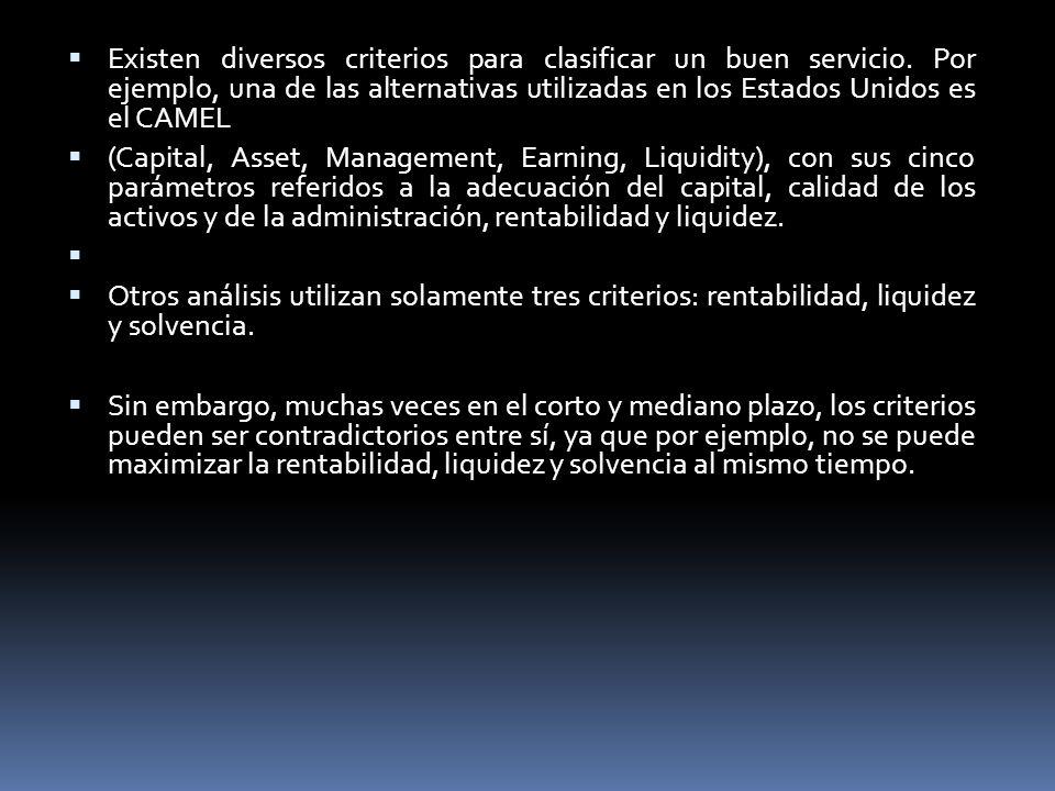 Existen diversos criterios para clasificar un buen servicio
