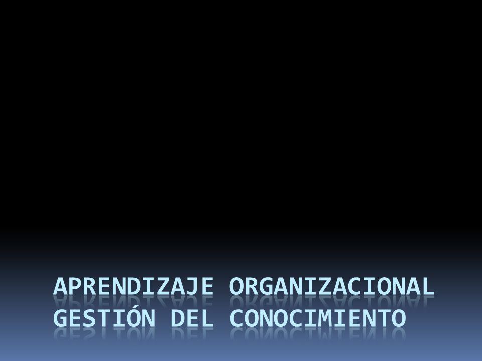Aprendizaje Organizacional Gestión del Conocimiento